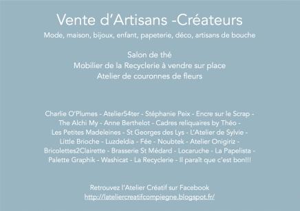 Noël Atelier Créatif flyer - Versojpeg